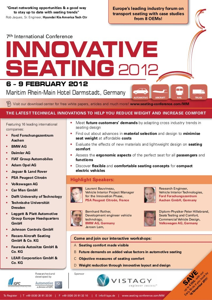 """""""Great networking opportunities & a good way                                          Europe's leading industry forum on  ..."""