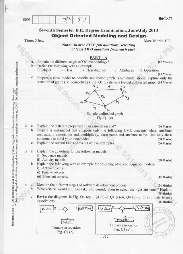 7th Semester Information Science (2013-June) Question Papers