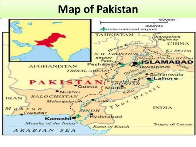 physical features of pakistan pdf