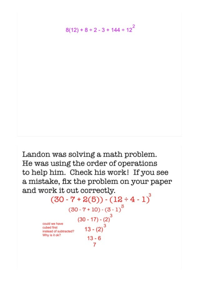 Order of operations homework Essay english for me – Order of Operations Worksheets 7th Grade