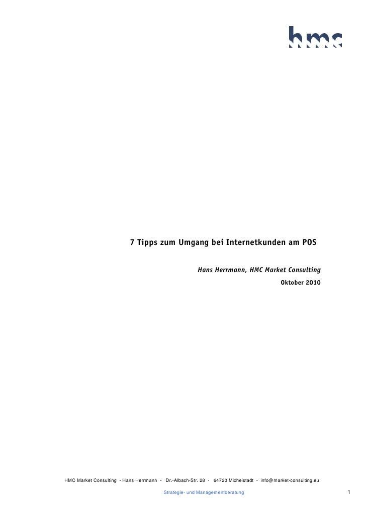 7 Tipps zum Umgang bei Internetkunden am POS