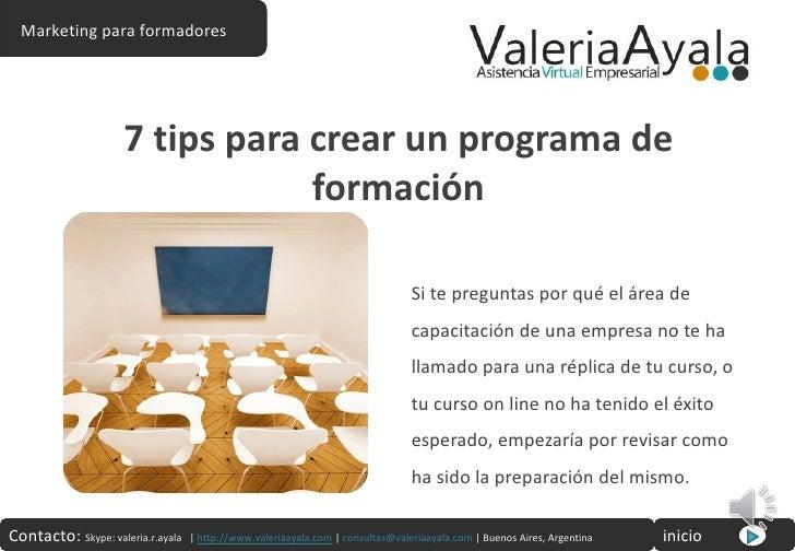 7 tips para crear un programa de formacion