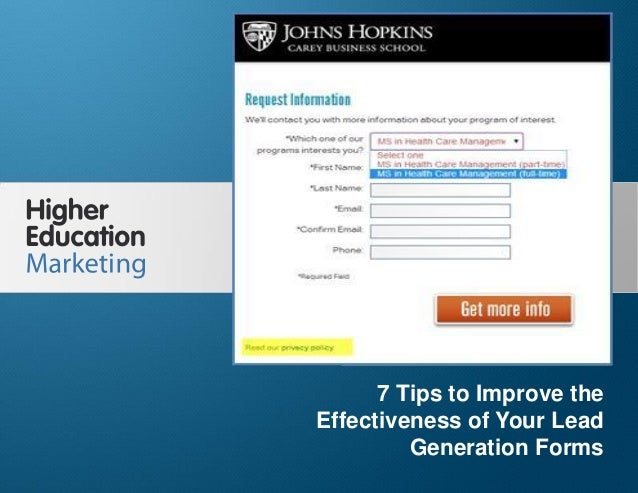 7 Tips to Improve the Effectiveness of Your Lead Generation Forms Slide 1 7 Tips to Improve the Effectiveness of Your Lead...