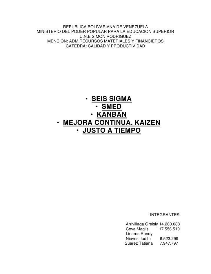 REPUBLICA BOLIVARIANA DE VENEZUELA<br />MINISTERIO DEL PODER POPULAR PARA LA EDUCACION SUPERIOR<br />U.N.E SIMON RODRIGUEZ...