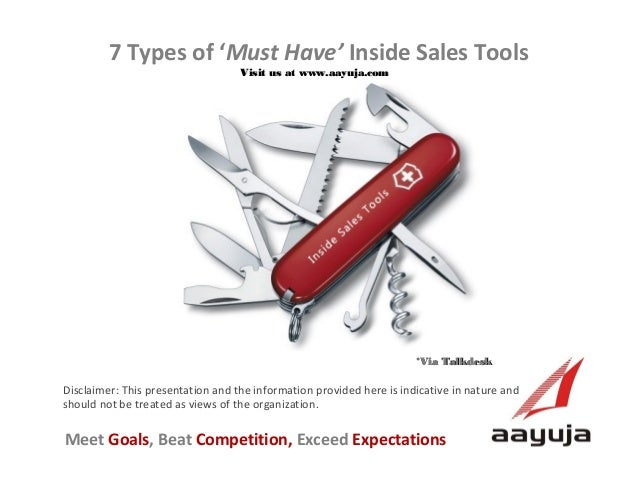 7 Types of 'Must Have' Inside Sales Tools