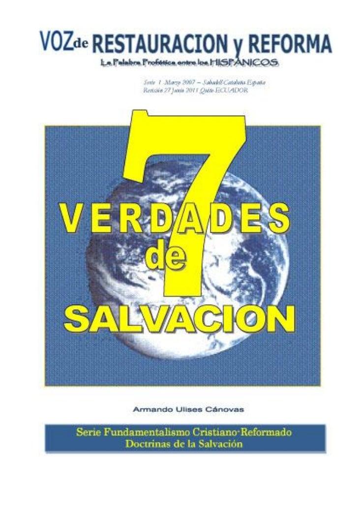 7 verdades de salvación