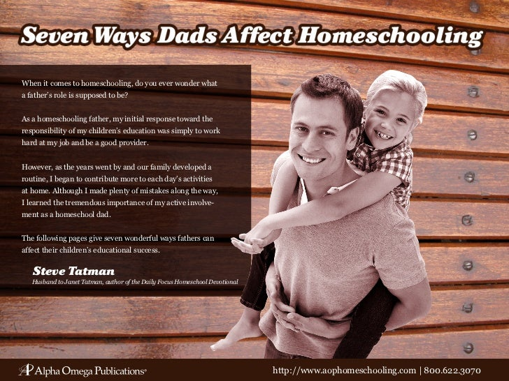 When it comes to homeschooling, do you ever wonder whata father's role is supposed to be?As a homeschooling father, my ini...