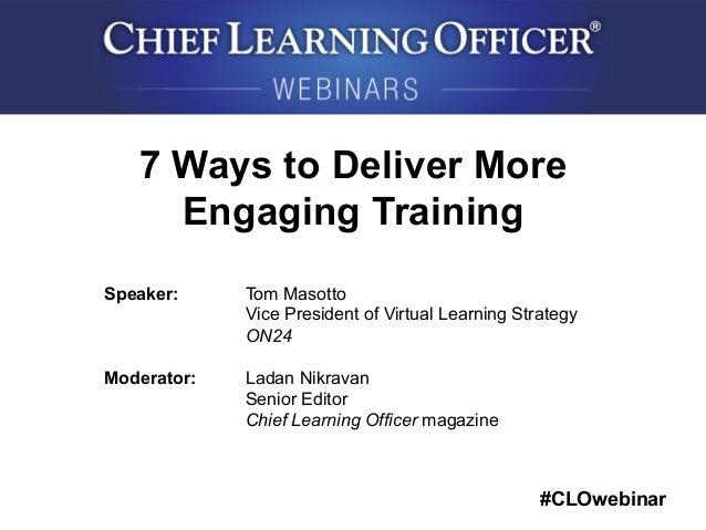 7 Ways of Learning Officer Magazine 7 Ways to