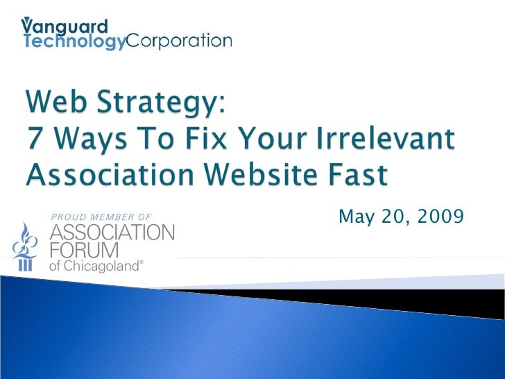 Vanguard Technology - 7 Ways To Fix Your Irrelevant Association Website Fast