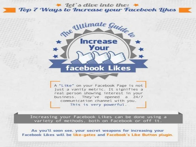 7 Ways to Increase your Facebook Likes