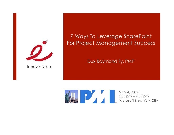7 Ways To Leverage SP for PM Success PMI NYC