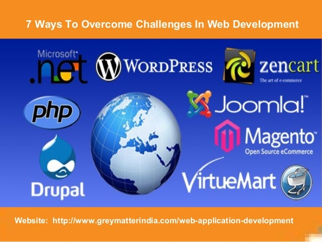 7 Ways To Overcome Challenges In Web Development Website: http://www.greymatterindia.com/web-application-development