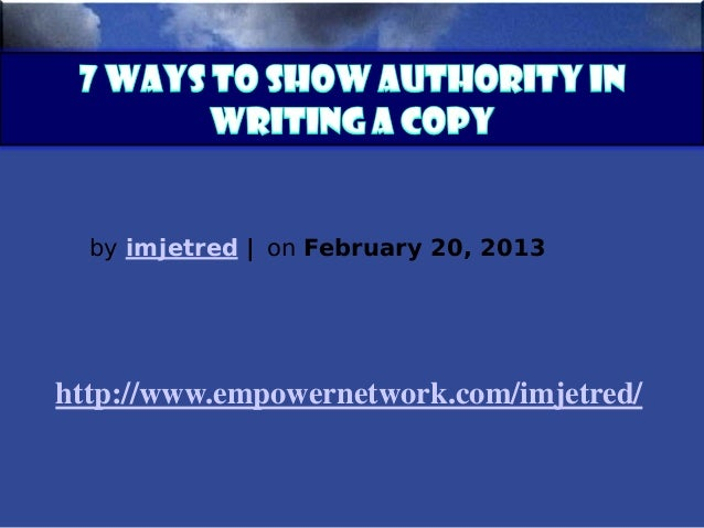 7 ways to show authority in writing a copy