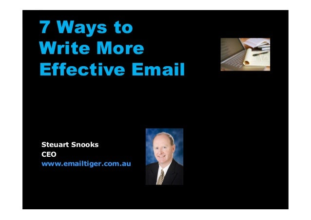 7 ways to write more effective email presentation slideshow