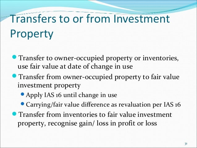 How To Recognise Loss In Fair Value Of Investment Property