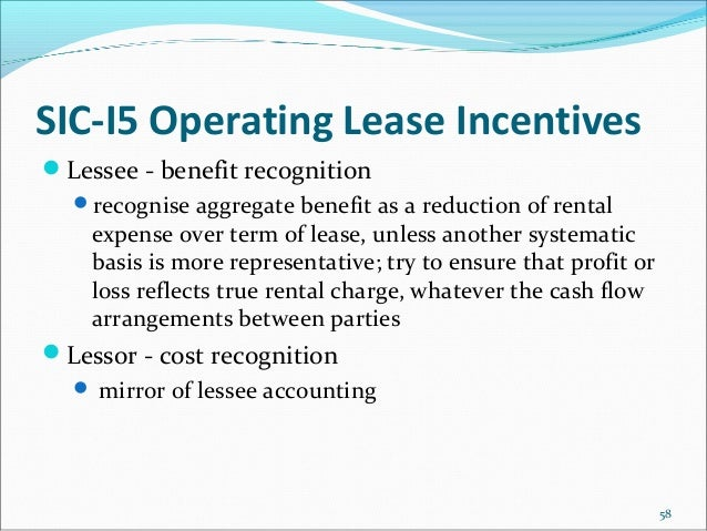 Accounting For Lease Inducements