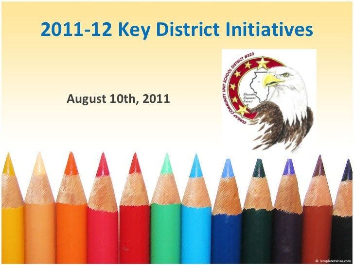 8 10-11 Key District Initiatives