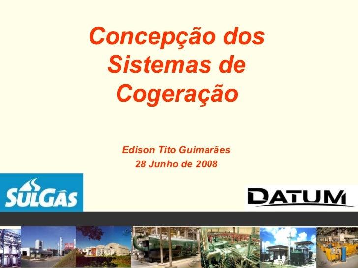 Concepção dos Sistemas de Cogeração Edison Tito Guimarães 28 Junho de 2008
