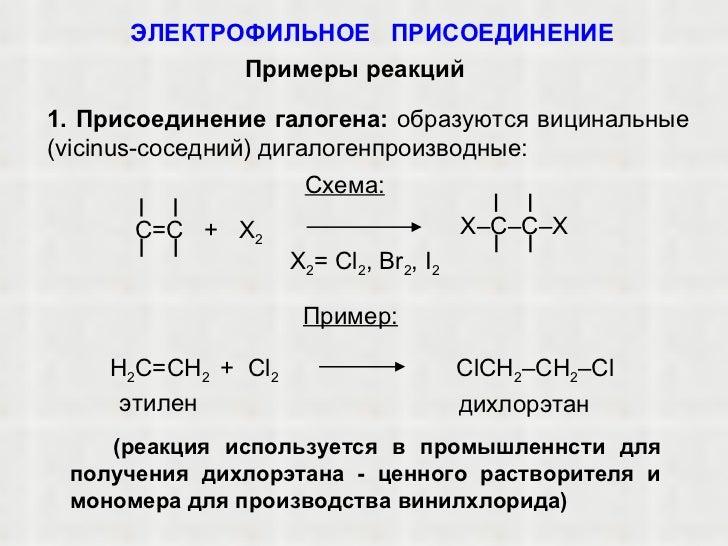 I 2 Пример: этилен С lCH