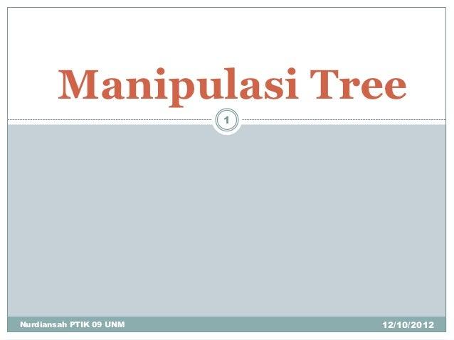 Manipulasi Tree                         1Nurdiansah PTIK 09 UNM       12/10/2012