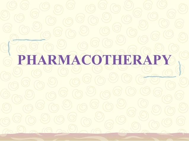 8. pharmacotherapy