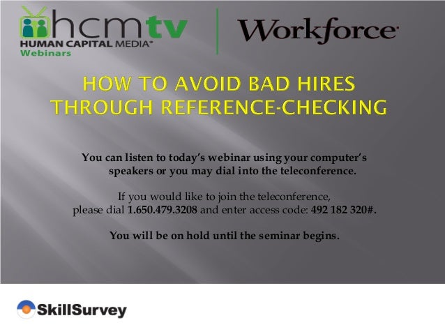 How to Avoid Bad Hires Through Reference-Checking