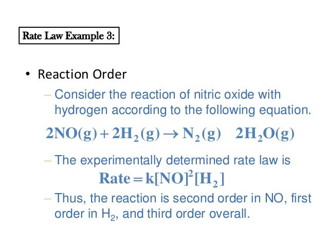 rat law determination of the crystal Determine the rate law (ie value of α & β, & k, in equation 1) for the reaction involving cyrstal violet and sodium hydroxide determine the rate law (ie value of k & α in the below equation) of the burning of a candle.