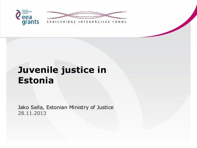 Juvenile justice in Estonia