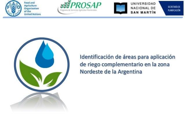 Consideraciones ambientales riego suplementario