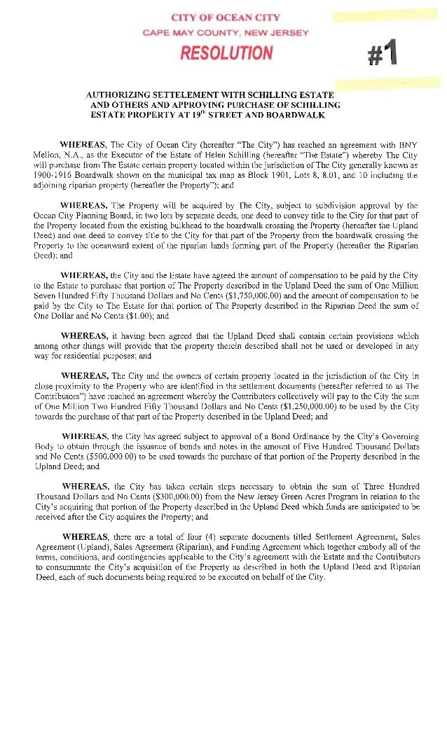 Ocean City Council agenda Aug. 14, 2014