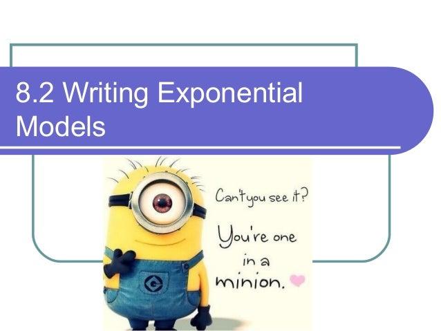 8.2 Exploring exponential models