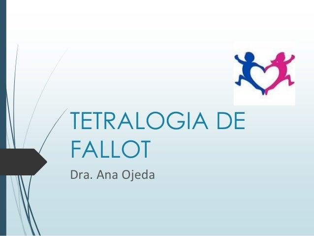 TETRALOGIA DE FALLOT Dra. Ana Ojeda