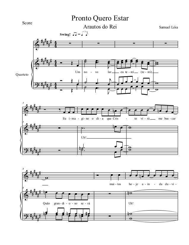 & & ? ## #### ## #### ## ### # 4 4 4 4 44 Quarteto ∑ Ó Œ œ Um Ó Œ œ Ó Œ œ Swing! ŒÂ = Œ lj ∑ ˙˙ ..œœ J œœ no vo lar ˙ .œ...