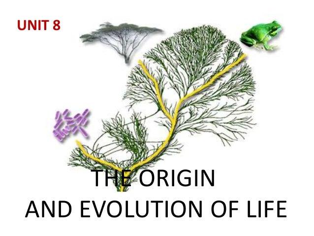 THE ORIGIN AND EVOLUTION OF LIFE UNIT 8