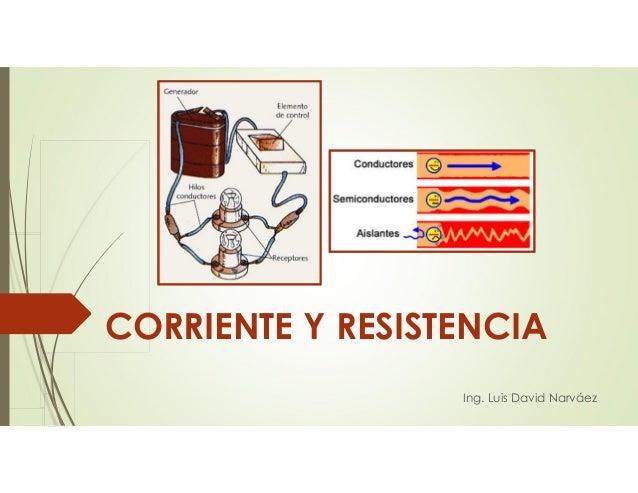 Ing. Luis David Narváez CORRIENTE Y RESISTENCIA