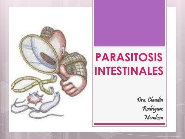 PARASITOSIS INTESTINALES Dra. Claudia Rodríguez Mendoza