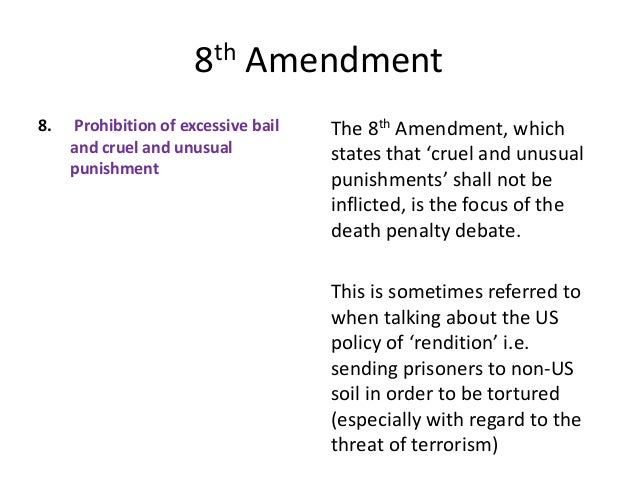 the 8th amendment cruel and unusual