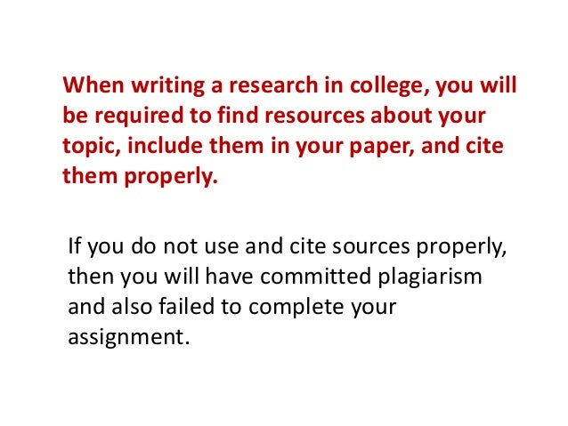 Is it research or plagiarism?