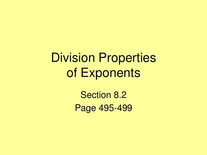 8 2 division properties - day 1