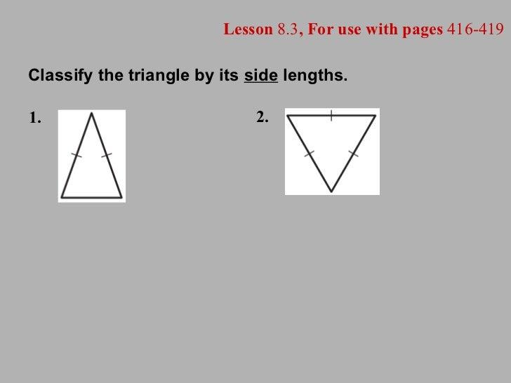 8.3   quadrilaterals