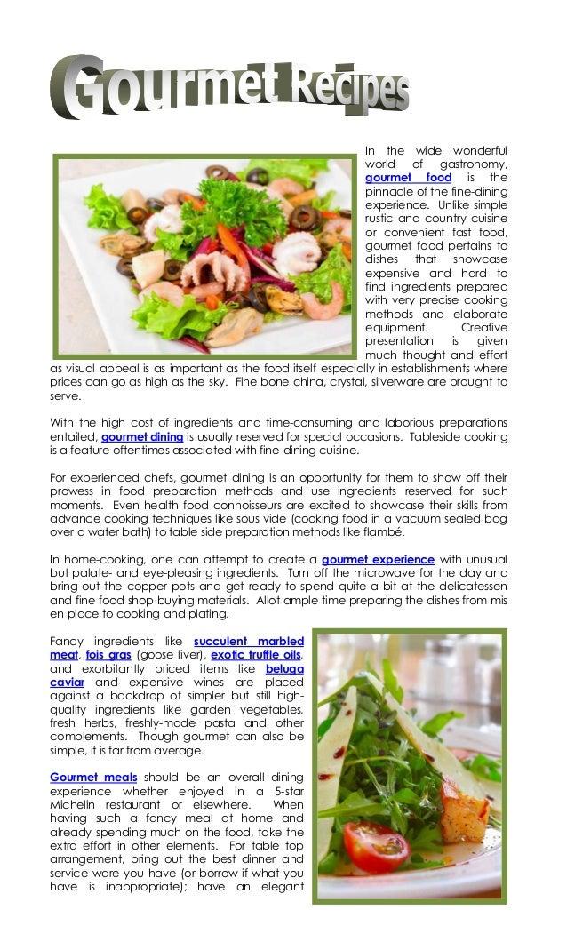 8.3 gourmet recipes