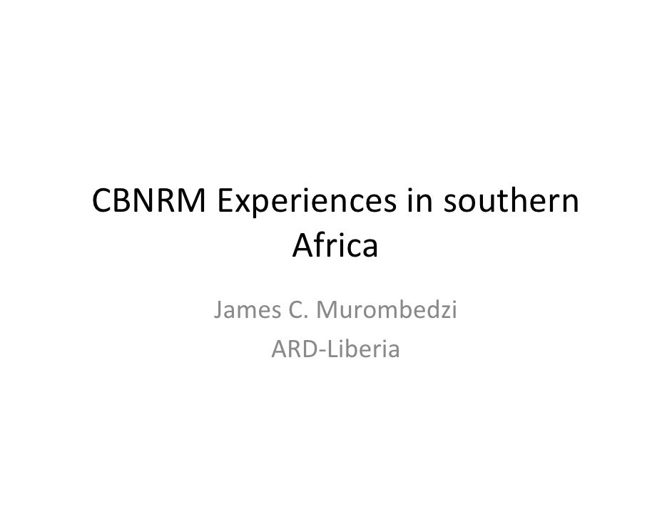 James Murombedzi: Forest tenure reforms in Southern Africa: What have we learned?