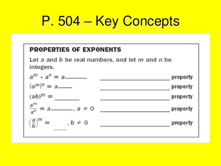 P. 504 – Key Concepts