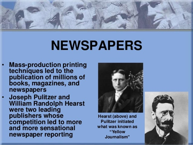 an analysis of the controversy of articles in william randolph hearsts newspaper the new york journa William randolph hearst has been credited with creating the modern sports section in the new york journal soon after he purchased it in 1895 several of hearst's biographers however do not mention this strategy.
