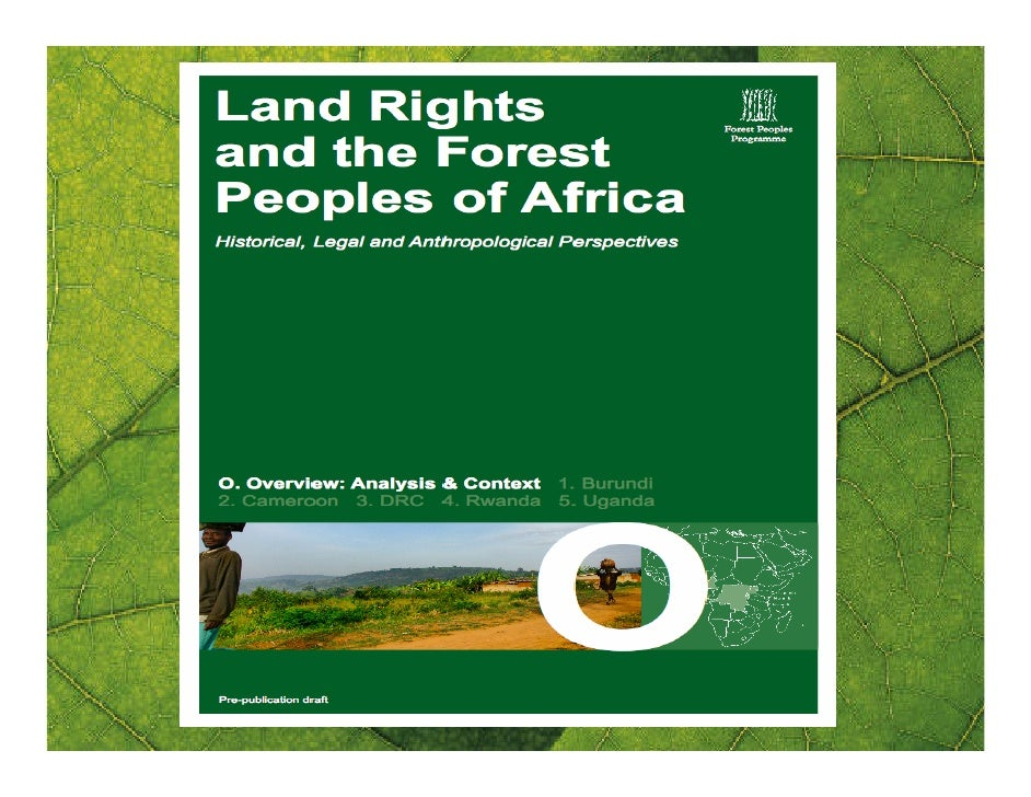 Valérie Couillard: Land rights and the forest peoples of Africa