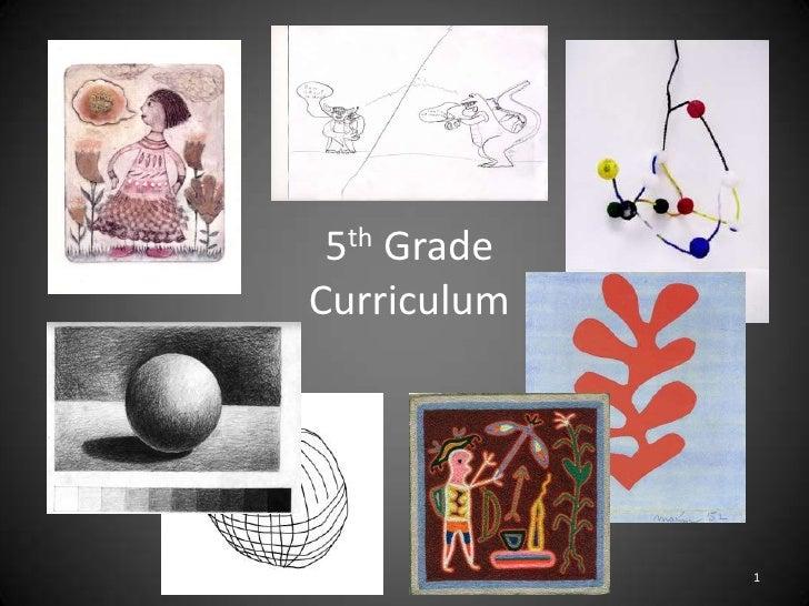5th Grade Curriculum<br />1<br />