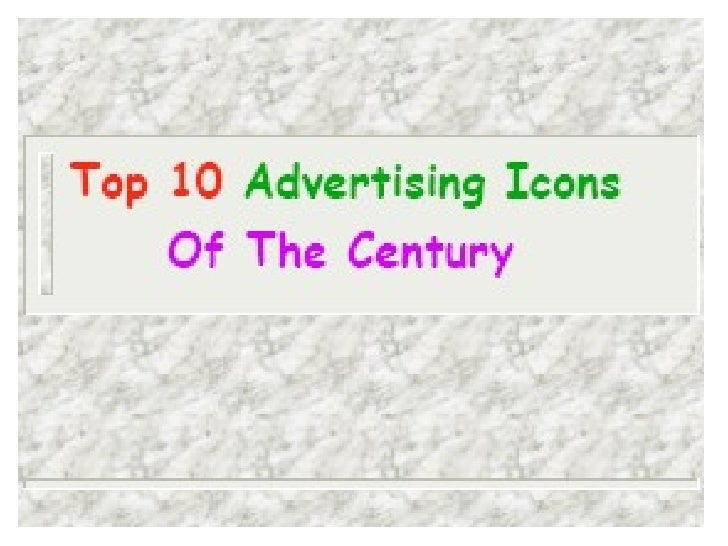 Top 10 Advertising Icons