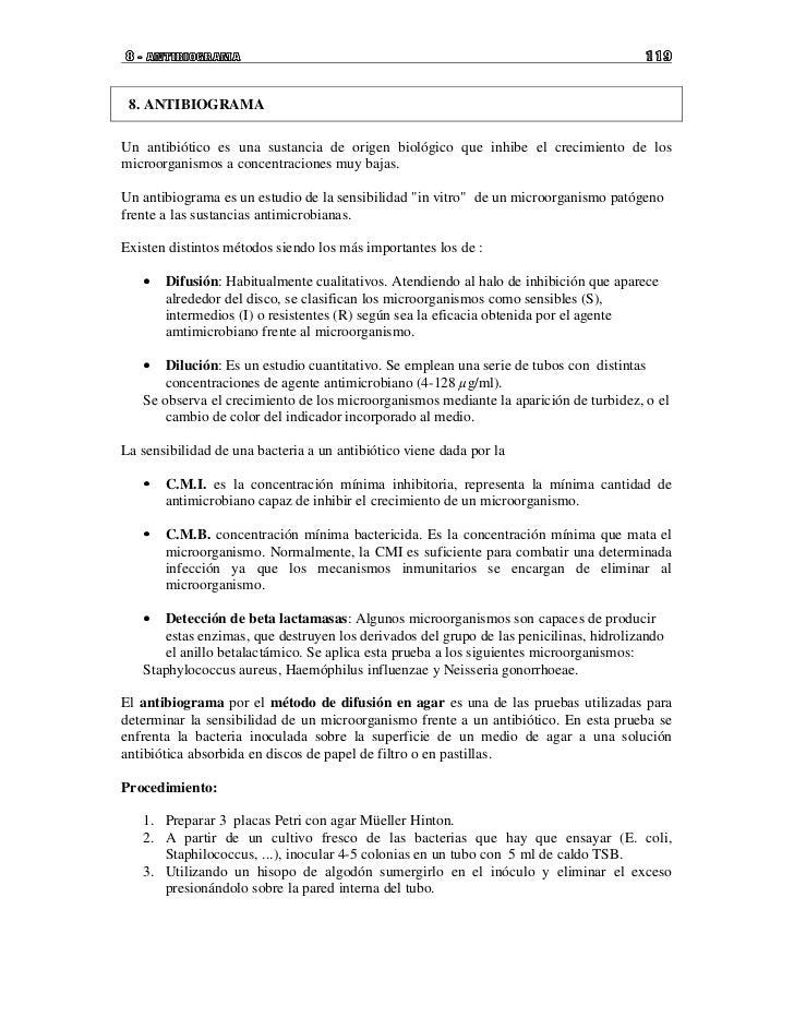 8 - ANTIBIOGRAMA                                                                       119 8. ANTIBIOGRAMAUn antibiótico e...