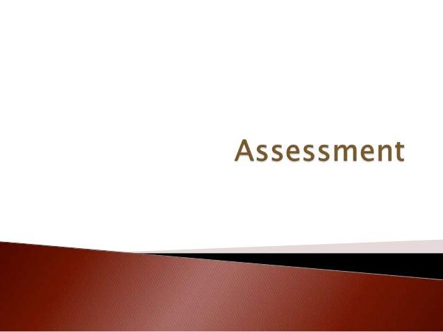 8   assessment