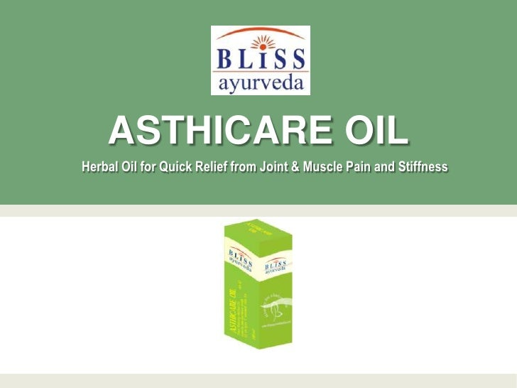 ASTHICARE OILHerbal Oil for Quick Relief from Joint & Muscle Pain and Stiffness